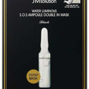 JM SOLUTION WATER LUMINOUS SOS AMPOULE DOUBLE IN MASK Black Восстанавливающая маска 2в1 30 мл